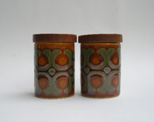 1970s  HORNSEA  BRONTE    SALT  AND  PEPPER  SET