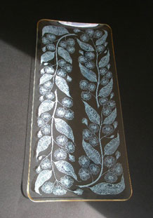 CHANCE GLASS SANDWICH TRAY IN 'CALYPTO' DESIGN BY MICHAEL HARRIS