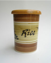 1960s TONI RAYMOND POTTERY HAND-PAINTED RICE STORAGE JAR