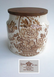 CROWN DEVON FIELDINGS STAFFORDSHIRE ENGLAND STORAGE JAR