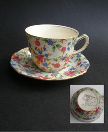 ROYAL WINTON  'OLD COTTAGE CHINTZ' CUP AND SAUCER