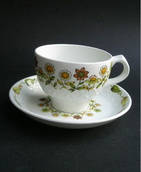Vintage Alfred Meakin Ironstone Cup And Saucer A Pretty