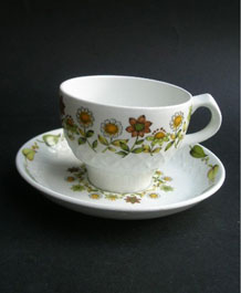 VINTAGE ALFRED MEAKIN  IRONSTONE CUP AND SAUCER