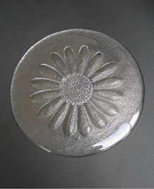 DARTINGTON GLASS DAISY BUTTER PLATTER DESIGNED BY FRANK THROWER