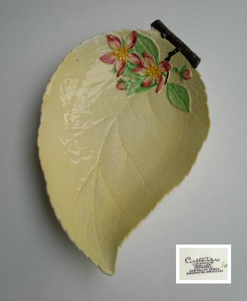 Vintage Carlton Ware Apple Blossom Shallow Leaf Plate A
