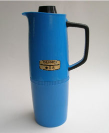VINTAGE BLUE THERMOS FLASK