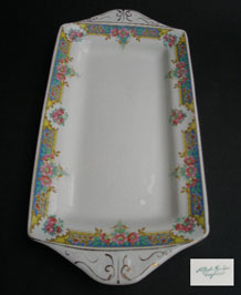 VINTAGE 1940's ALFRED MEAKIN FLORAL SANDWICH TRAY