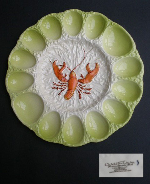 CARLTON WARE LOBSTER DEVILLED EGG PLATE - A Pretty Penny ...