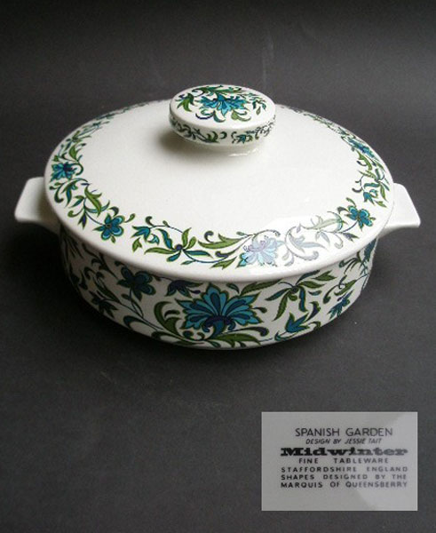 MIDWINTER SPANISH GARDEN LIDDED SERVING TUREEN DESIGNED BY JESSIE