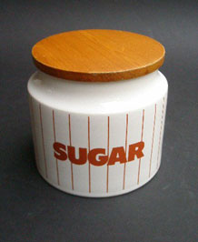 HORNSEA BROWN STRIPE SUGAR STORAGE JAR