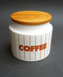 HORNSEA BROWN STRIPE COFFEE STORAGE JAR