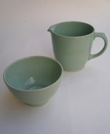 WOOD'S WARE BERYL LARGE JUG AND BOWL