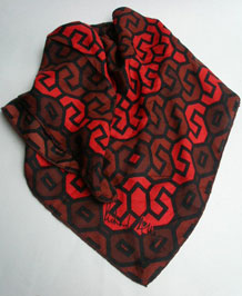 VINTAGE RICHARD ALLAN SIGNED SILK SCARF WITH HAND-ROLLED EDGES