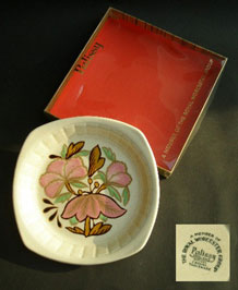 PALISSY LOTUS BUTTER PAT IN ORIGINAL BOX