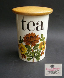 CROWN DEVON FIELDING TEA STORAGE JAR