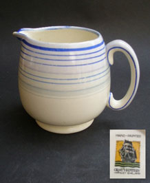 GRAY'S POTTERY HAND-PAINTED JUG