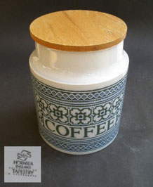 HORNSEA TAPESTRY COFFEE STORAGE JAR