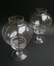 DARTINGTON GLASS CANDLELAMPS FT162  DESIGNED BY FRANK THROWER