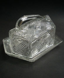 CHANCE GLASS BRITANNIA CHEESE DISH (1949)