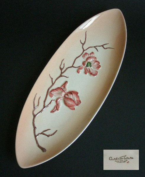 Carlton Ware Magnolia Long Boat Plate A Pretty Penny