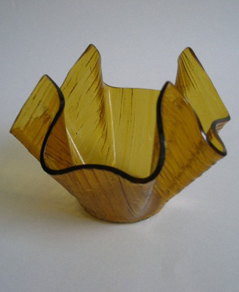 Chance Glass Amber Cotswold Handkerchief Vase A Pretty Penny