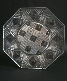 1940s CHANCE GLASS BRITANNIA PLATE