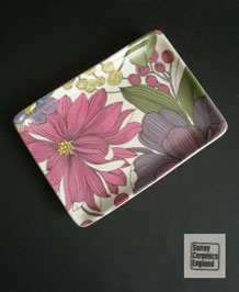 1960s SURREY CERAMICS RECTANGULAR PIN TRAY/DISH