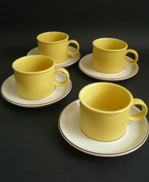 MIDWINTER STONEHENGE FLOWERSONG CUPS AND SAUCERS