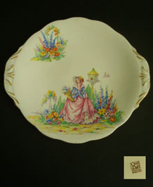 1950s BELL CHINA CRINOLINE LADY CAKE PLATE