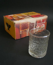 1970s RAVENHEAD SIESTA 14 cl GLASSES IN ORIGINAL BOX DESIGNED BY A H WILLIAMSON
