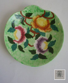 ART DECO MALING PEONY ROSE & THUMBPRINT DISH