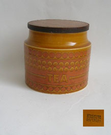 1970s HORNSEA SAFFRON TEA STORAGE JAR