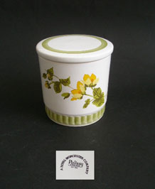 VINTAGE PALISSY CREEPING JENNY AND MEADOW CLOVER STORAGE JAR