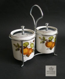 MIDWINTER STYLECRAFT ORANGES AND LEMONS CONSERVE POTS IN STAND