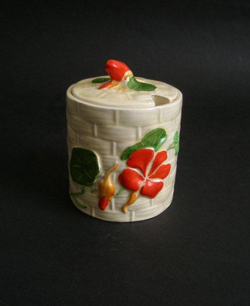 Crown Devon Nasturtium Jam Preserve Pot A Pretty Penny