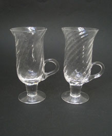 DARTINGTON RIPPLE IRISH COFFEE GLASSES FT83 DESIGNED BY FRANK THROWER