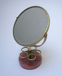 VINTAGE LIPSTICK STAND / HOLDER WITH MIRROR