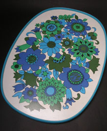 1970s FLORAL MELAMINE TRAY