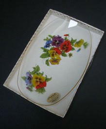 CHANCE GLASS VIOLA TRAY IN ORIGINAL BOX