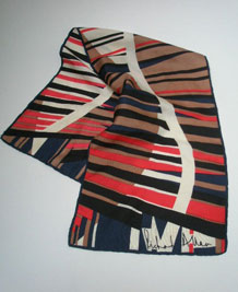 VINTAGE RICHARD ALLAN SILK SCARF WITH HAND- ROLLED EDGES