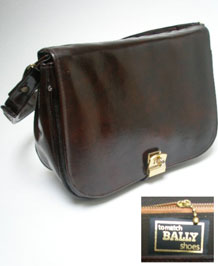 VINTAGE - TO MATCH BALLY SHOES- PATENT LEATHER BAG