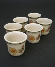 M & S ST. MICHAEL AUTUMN LEAVES EGG CUPS X 6