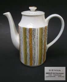 MIDWINTER SIENNA COFFEE POT DESIGNED BY JESSIE TAIT