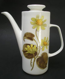 J & G MEAKIN WOODLAND COFFEE POT DESIGNED BY JESSIE TAIT