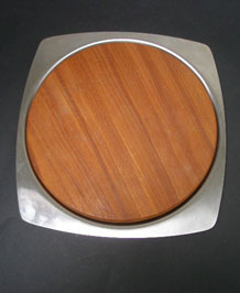 OLD HALL STAINLESS STEEL AND TEAK CHEESE BOARD