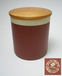 HORNSEA CINNAMON STORAGE JAR