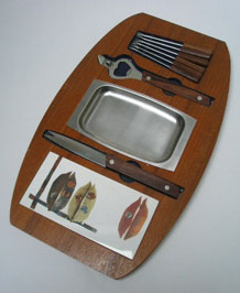 1960s TEAK COCKTAIL/ BAR SET