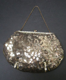 1960s  FRENCH SEQUINED EVENING BAG
