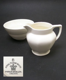 ART DECO ROYAL TUDOR WARE  SUGAR BOWL AND JUG