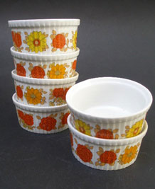 VINTAGE PILLIVUYT FRANCE RAMEKIN DISHES x 6